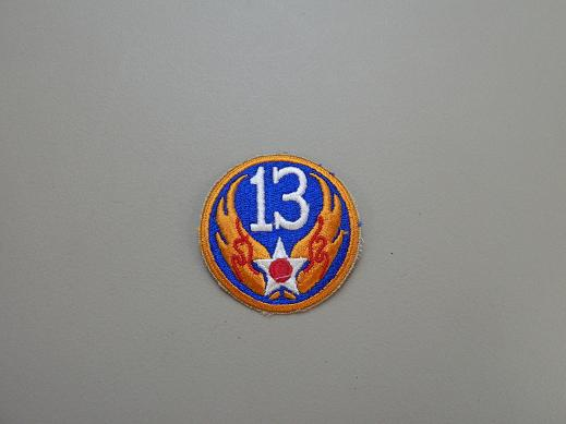 13th Army Air Force Color Patch- No Pigtail