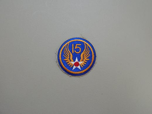 15th Army Air Force Color Patch- No Pigtail
