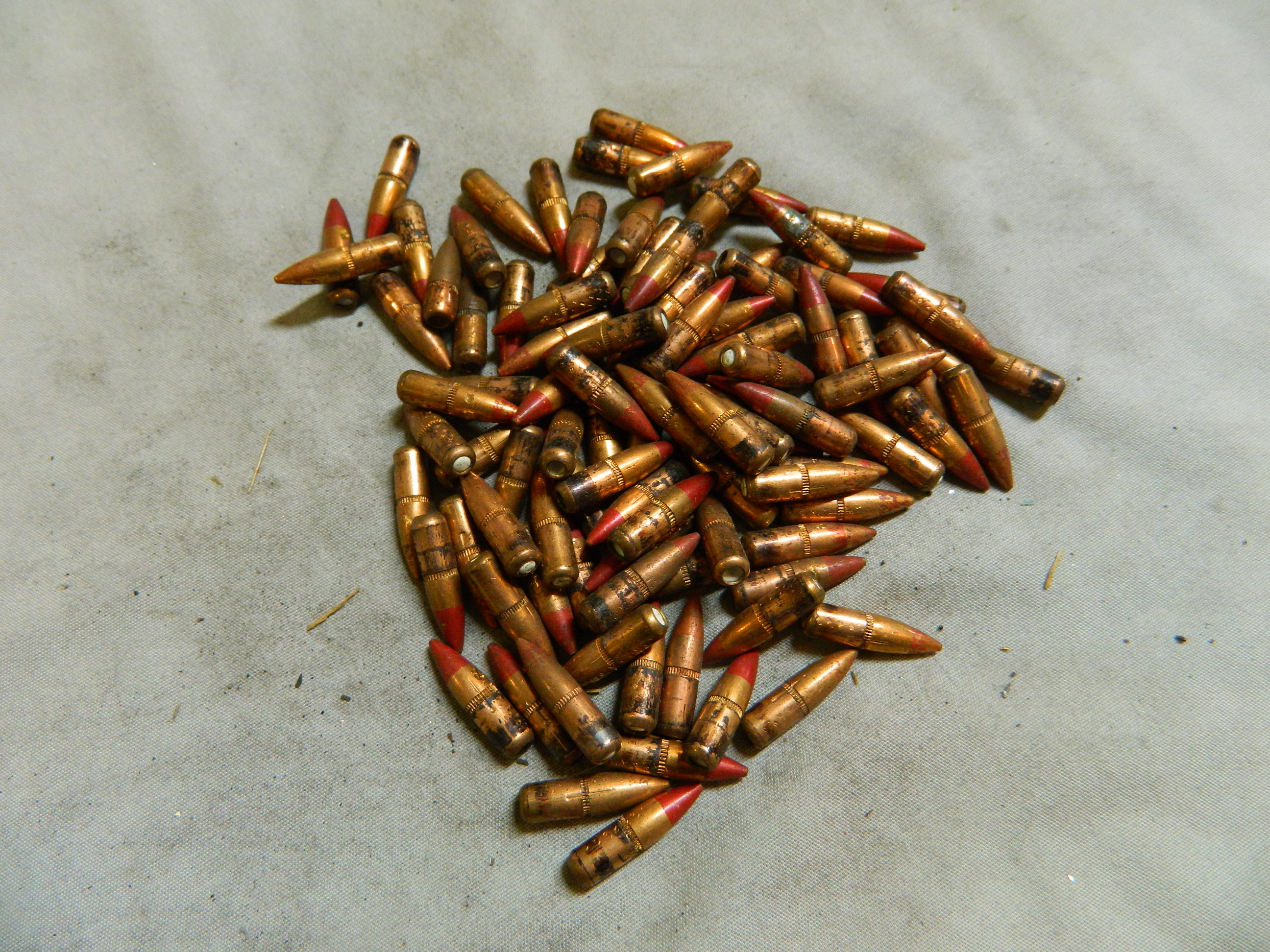 223 Cal.- 55gr Tracer Bullets- 100 Ct. Pulled- white bottom
