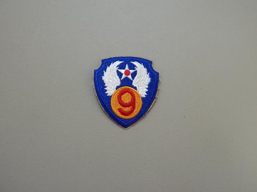 9th Army Air Force Color Patch- No Pigtail