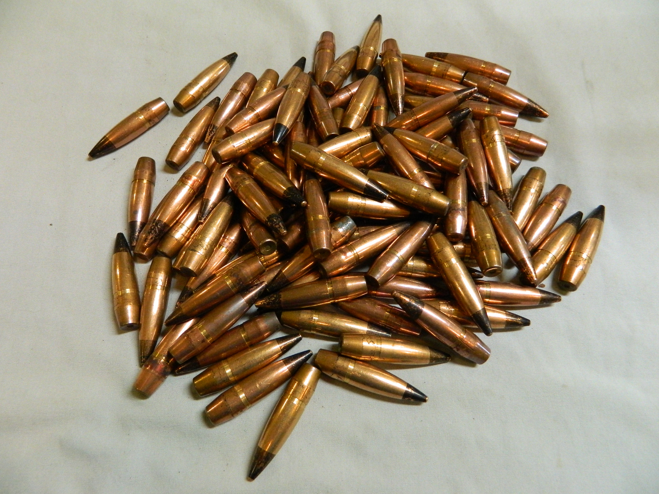 .50 Cal. AP Bullets- 696 gr. Pulled- 100 Ct.