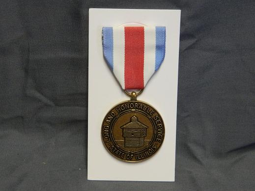 Illinois National Guard Long & Honorable Service Medal- Full Siz