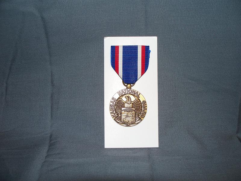 Kansas National Guard Service Medal- Full Size