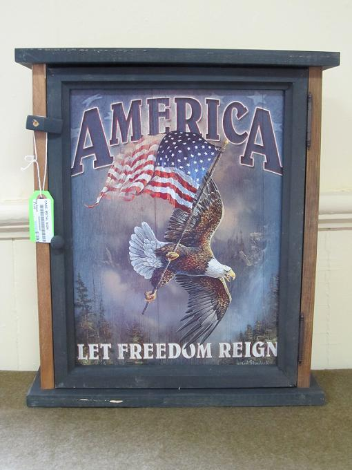 America- Let Freedom Reign Pine Cabinet