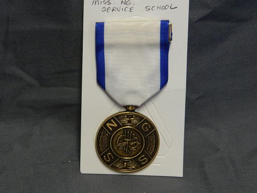 Mississippi National Guard Service School Medal- Full Size