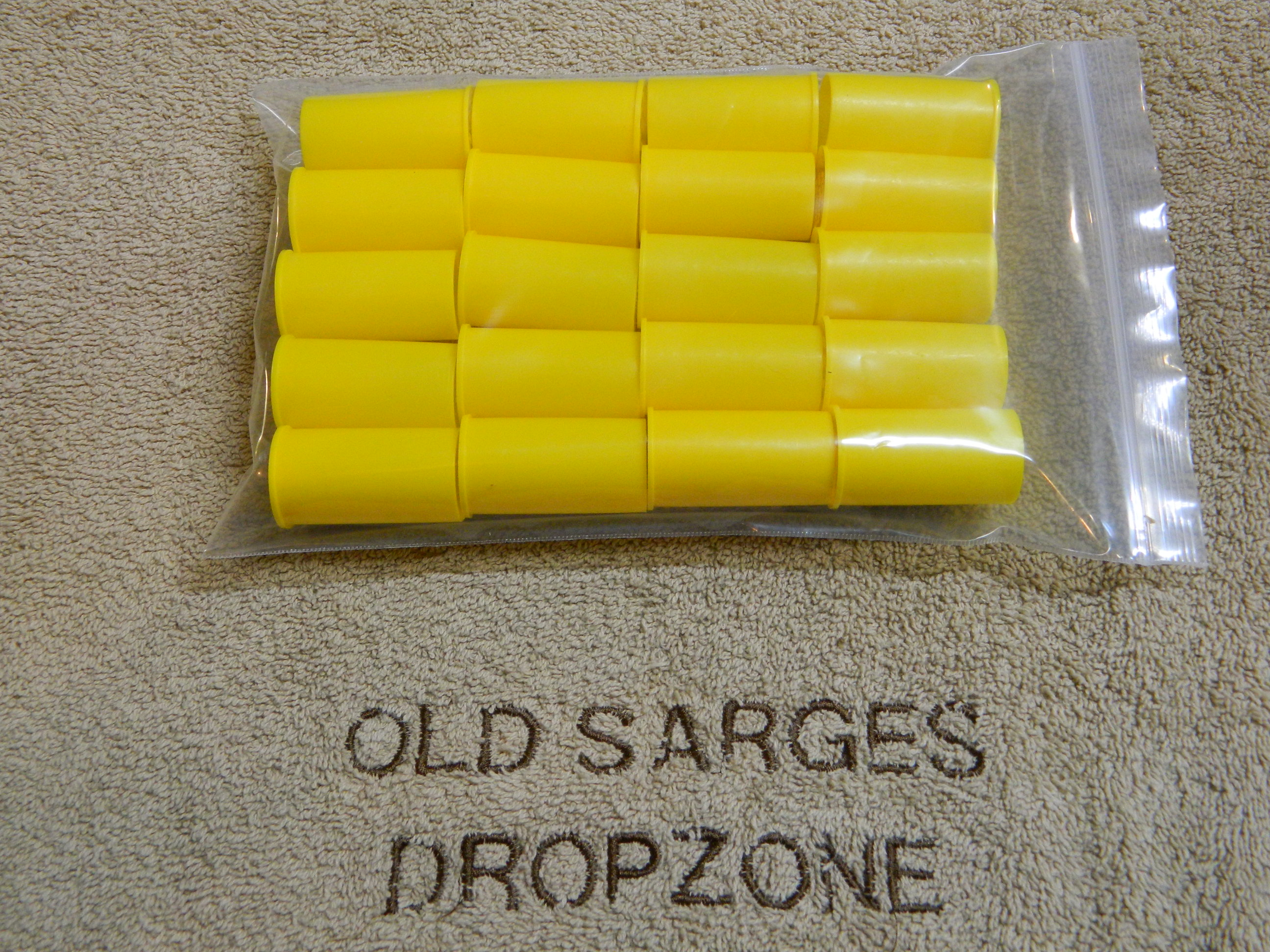 USGI M16/AR15 Shoot Thru Muzzle Covers- Yellow- 20 Ct.