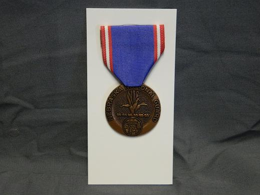 Nebraska National Guard Faithful Service Medal- Full Size
