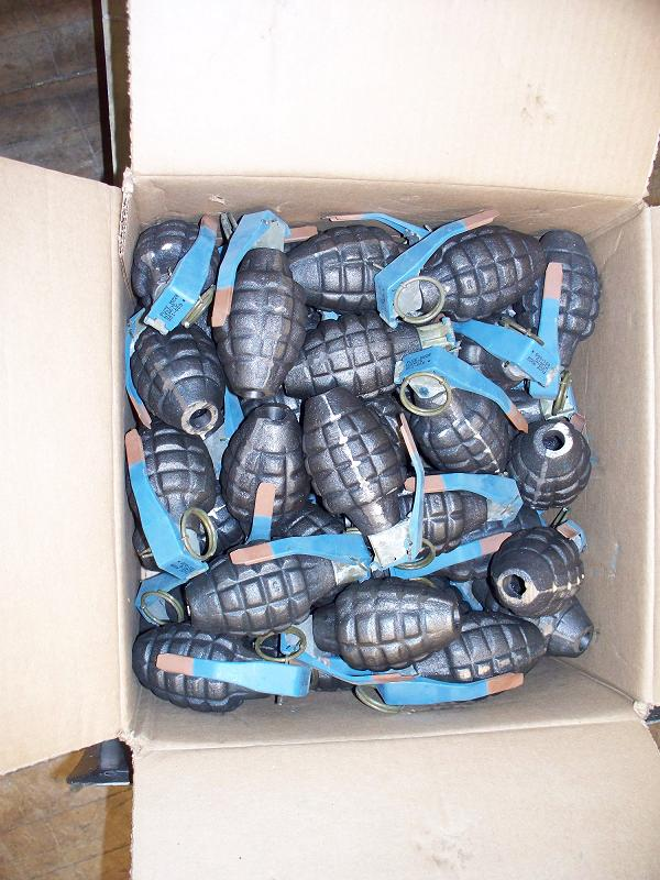 Pineapple Inert Grenades- Unpainted- 50 Ct.