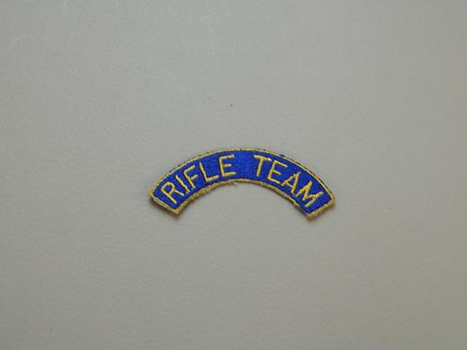 Rifle Team Tab- Color Blue/Gold