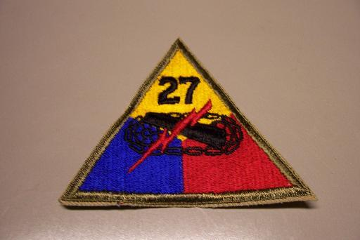 27th Armored Division NO TAB