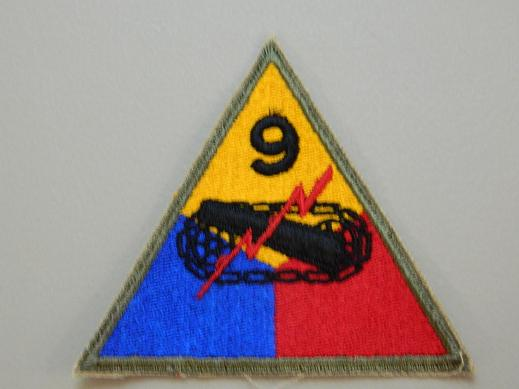 9th Armored Division Color Patch NO TAB- WW2