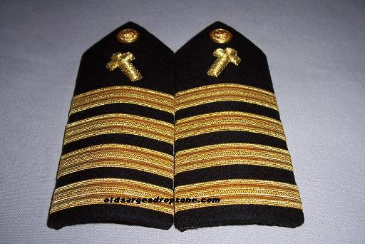 USN Capt. Chaplain MALE Shoulder Boards