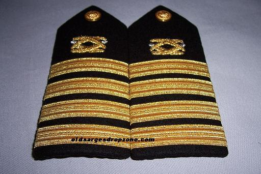 USN Capt. Civil Engineering MALE Shoulder Boards