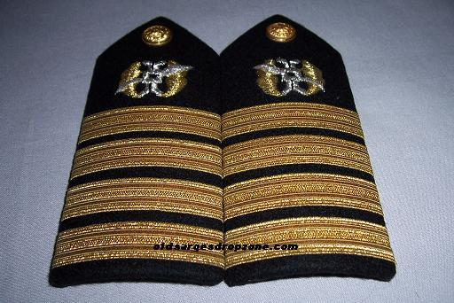 USN Capt. Law Community MALE Shoulder Boards