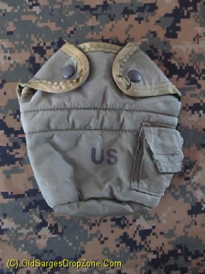 USGI 1 Qt. Canteen Cover, used, like new - Green