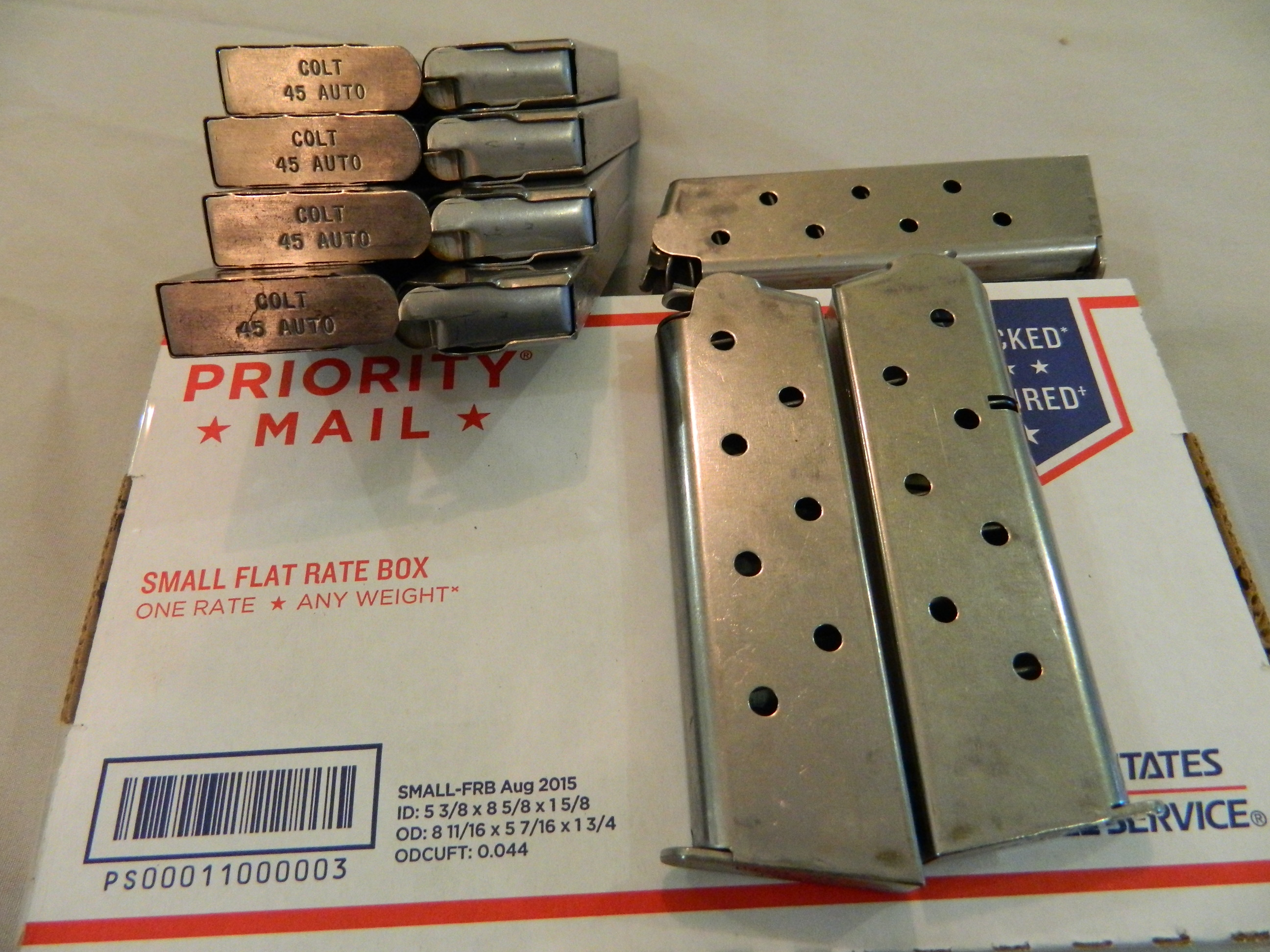 1911 45 ACP Mags. Stainless Steel- 7 Rd.- Dealer Dozen