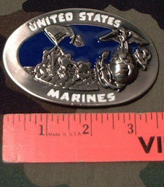Belt Buckle: U.S. Marines Corps - Iwo Jima