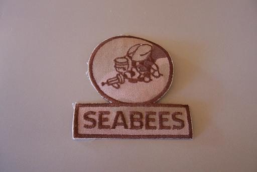 Seabees Pocket Patch- Desert Camo
