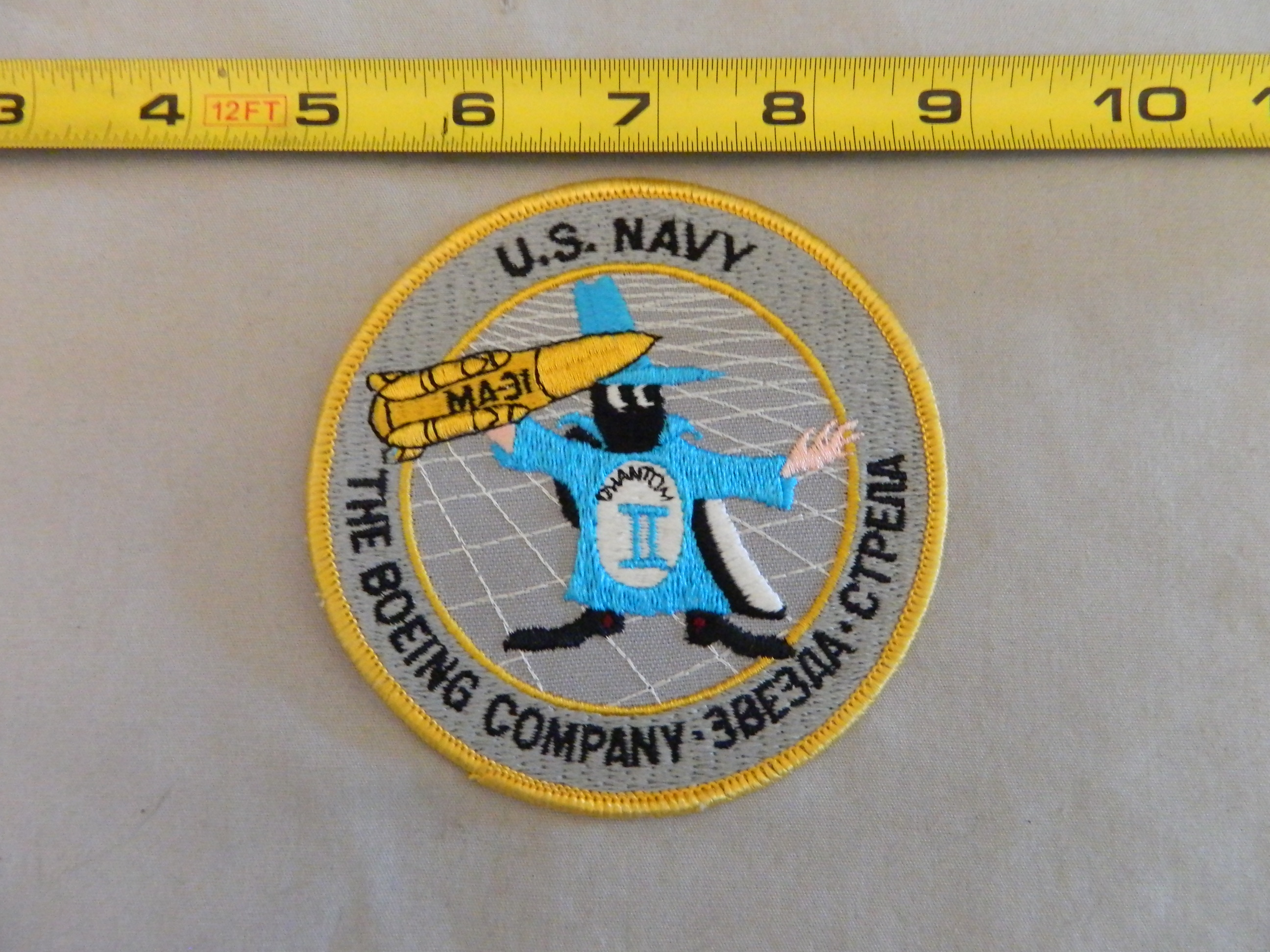 U.S. Navy- The Boeing Co. 3BE3NA-CTPENA Patch
