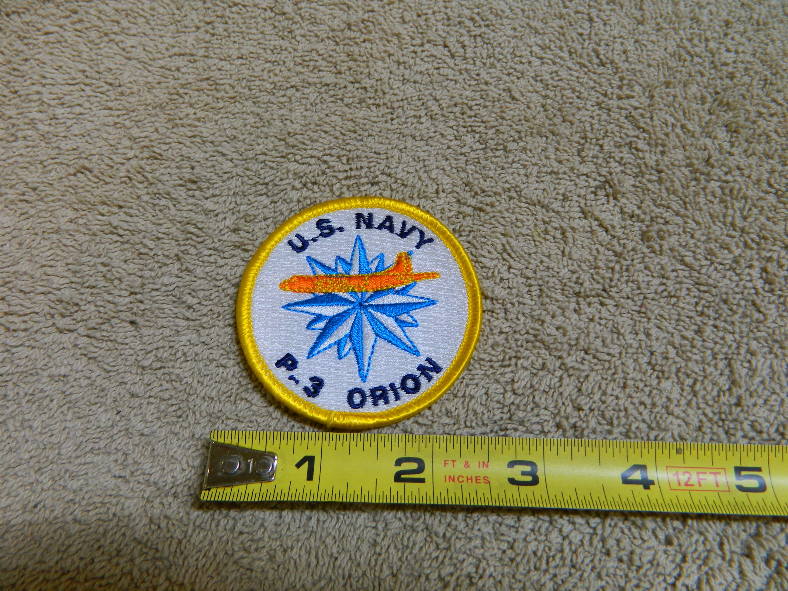 USN: U.S. NAVY P-3 ORION- Small Color Patch