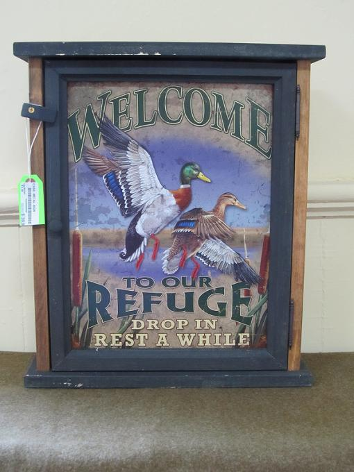 Welcome To Our Refuge Pine Cabinet